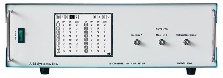 A-M Systems  Model 3500  16-Channel Extracellular Differential Amplifier