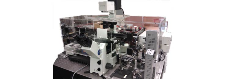 Olympus IX71 TIRF microscope with Digital Pixel envionmental chamber
